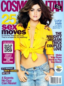 LUCY HALE in Cosmopolitan Magazine